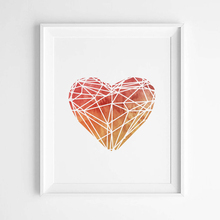 Watercolor Heart Canvas Art Print Poster, Wall Pictures for Home Decoration, Frame not include FA276-1