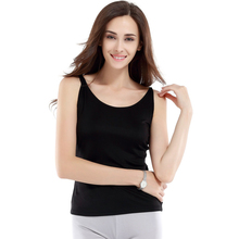 100% Silk Knitted Camisole Pure Silk Fabric Women Camisole with Stretch High Quality China Silk Factory Free Shipping(China)