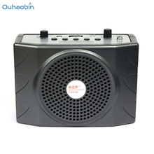 Ouhaobin Remote Control 25W Portable Clip PA Amplifier Loudspeaker Radio Support SD USB FM MP3 LED Display High Quality Set1(China)