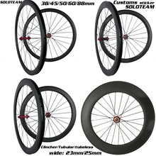 Novate 271sb 30mm 38mm 45mm 50mm 60mm 88mm carbon wheels 700c carbon bicycle wheels soloteam road bike carbon wheelset
