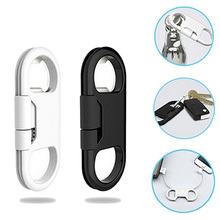 Bottle Opener Keychain Data Cable Portable 3in1 USB Charging Cord For Smart Phone(China)