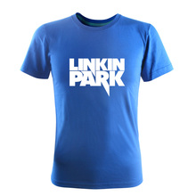 Rushed New 2015 Summer Casual Black Linkin Park Rock Band Tees Punk Hip Hop Slim Short-Sleeved T-shirts Cotton O-Neck Men Brand