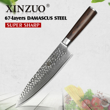 "XINZUO 8"" inch 67 layer Damascus Steel Kitchen Knife Chef Knife Cleaver Stainless Steel Chef's Slice Knife pakka Handle Cutlery(China)"