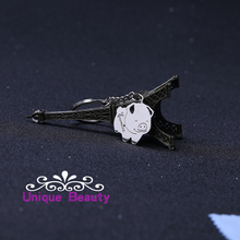 Customized Keychain 925 Solid Silver KeyChain Pig Shape With Birthstone Personalized Keychain Wholesale Christmas Gift