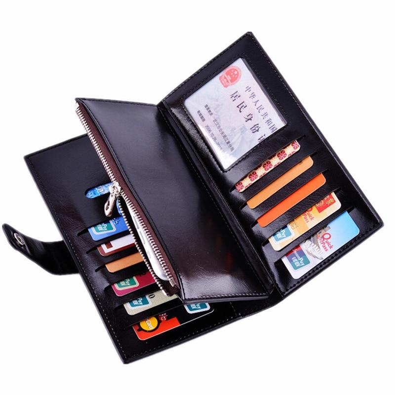 High Capacity Fashion Women Wallets Long Wax Oil Skin Leather Wallet Female Zipper Clutch Coin Purse Ladies Purse Phone Pocket <br><br>Aliexpress