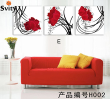 3 Pcs Large Rose Flower Art Wall Oil Painting On Canvas Home Decoration Canvas Art Oil Painting Canvas Painting Ideas Realis