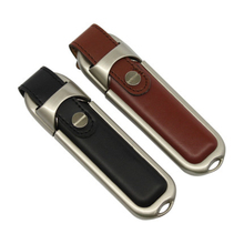 Real capacity 2 colors Leather USB Flash Drive 4GB 8GB 16GB 32GB 64GB saber Pendrive 32GB flash Memory stick Pen Drive
