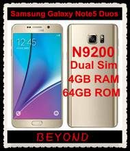 "Samsung Galaxy Note 5 Duos N9200 Dual Sim Original Unlocked 4G LTE GSM Android Mobile Phone Octa Core 5.7"" 16MP RAM 4GB ROM 64GB"