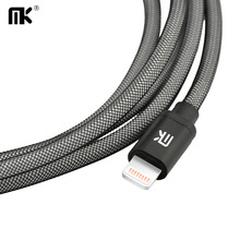 MK Lightning to USB Cable For iPhone Mini Short Long Fast Charger 0.2m / 1m / 2m / 3m Mobile Phone Cables For iPhone 5 5s 6 6s