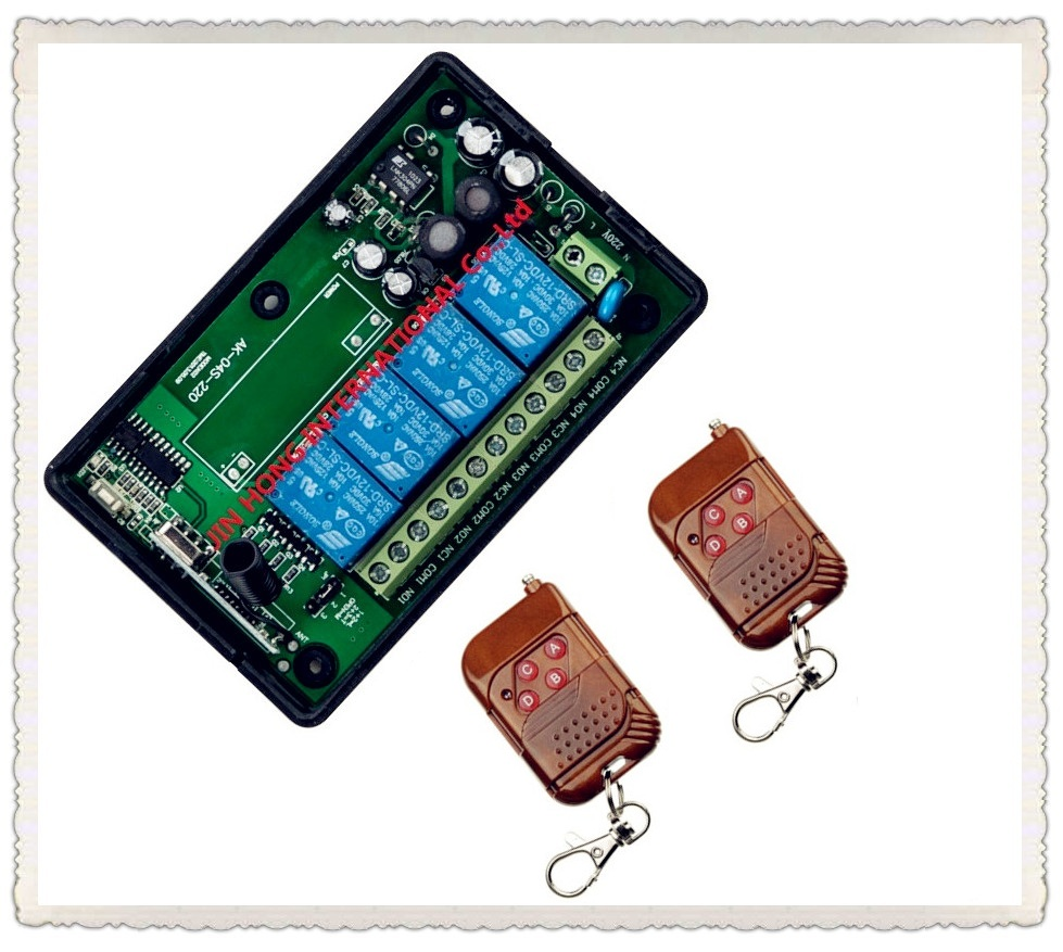 AC 85V 110V 220V 250V 4CH RF Wireless Remote Control System Radio Wireless Lighting Switch  Receiver  Applicance Garage Door <br><br>Aliexpress