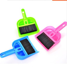 2016 Multifunctional and Lovely Mini Desktop Computer Keyboard Clean Sweep Dust To Dust Small Broom Brush Set With Dustpan Shove(China)