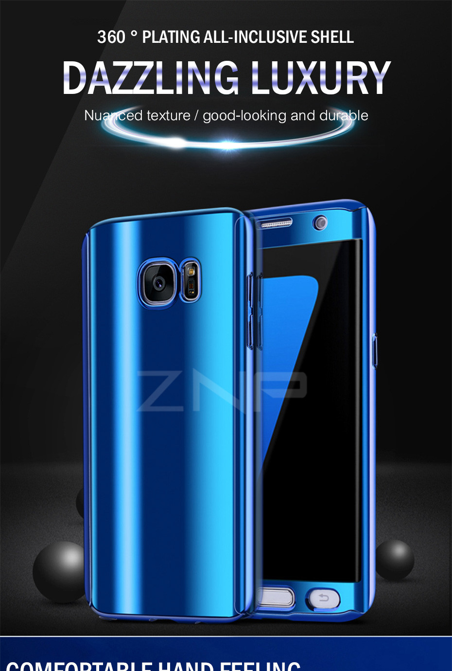 ZNP Luxury 360 Full Phone Case For Samsung Galaxy S9 S8 Plus Note 8 Bling Mirror Cover Cases For Samsung S7 Edge S9 S8 S7 Case 1
