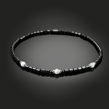SHUANGR Fashion Magnetic Hematite Necklace Round Flat Beads Black And Colorful Hematite Necklace For Men Women Healthy Jewelry(China)