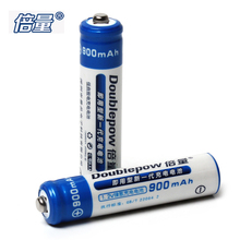 2pcs! Doublepow AAA Ni-Mh Battery 1.2V 900mAh LSD AAA NiMh Rechargeable Battery with 1200 Cycle for Flashlight Headlamp Camera