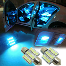 "4pcs Aqua Blue/Ice Blue 12SMD 1.25"" 31mm LED Bulbs Car Interior lights/Doom Light/Read Bulbs CD6J(36mm/39mm/41mm Available)"