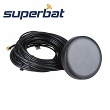 Superbat Brand New Round GPS/Wifi/GSM Antenna 3 in 1 Combined Antenna Aerial Booster with SMA Male Plug Connectors 5M Black(China)