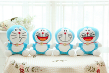 Free Shipping 20cm Or 25cm 4 Expressions Plush Doraemon Stuffed Animal Soft Toy Baby Toy kawaii Gift For Kids(China)