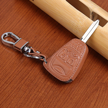 2016 Car-cover high Quality 100% genuine leather car key cover  for Chrysler 300 PT Cruiser Sebring Dodge Caliber Jeep 3 buttons