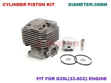 Cylinder Piston Kit for G35L  BC3410 436R Brush Cutter.Grass Trimmer.Lawn Mower.Tiller.Gasoline Engine Garden Tools Spare Parts