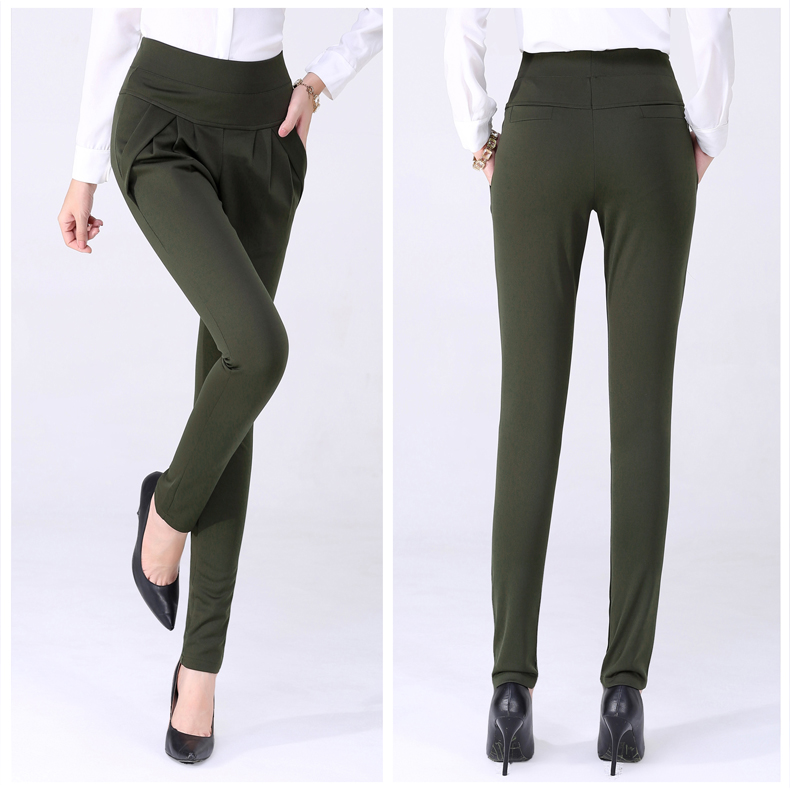 New Autumn Women Casual Loose High Waist Harem Pants Ladies Office Pants Plus Size Trousers S~4XL 5XL 6XL Blue Red Khaki Brown 10
