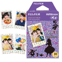 Genuine Fujifilm Fuji Instax Mini Film 10 Shots Alice in Wonderland Frame Photo for Mini 7s 8 9 25 50s 90 Camera Share SP-1 SP-2