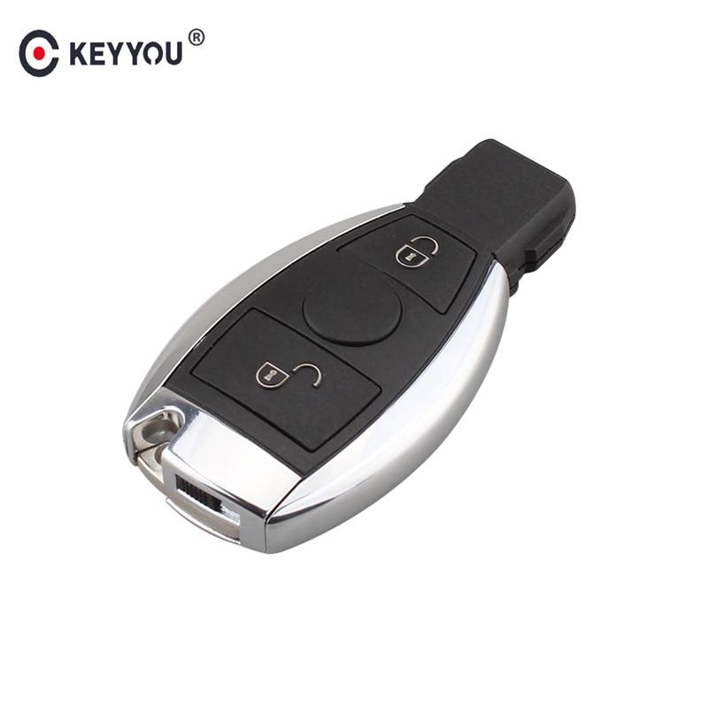 KEYYOU 2 Buttons Smart Remote Control Car Key Mercedes Benz 2000+With NEC&BGA Fob 433Mhz Keyless Entry Key