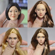 "New hot 1/6 Scale 16-86 83 84 85 sculpt female European Asian beauty hair Head Carving For 12""PH Action Figure Accessories(China)"