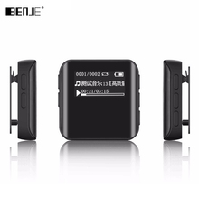 Newest Benjie K10 Mini Clip Sports MP3 Player Portable MP3 Music Player High Sound Quality Lossless Player With FM/Built-in 8GB