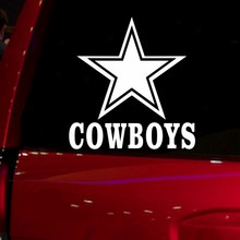 NFL Cowboys cool funny Windows jdm car accessories die cut Sticker Decal for Car Truck Suv Motorcyle 5.5''wide white