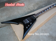 Hot Sale Custom Electric Guitar,Floyd Rose,Black Hardware,Unusual Shape Flying V Shape,Active Circuit,can be Customized