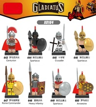 Building Blocks Single Sale XH643-650 The Roman Commander Hero of Sparta Medieval Knights Super Hero Toys Children Gifts X0164
