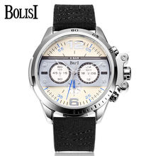 New Brand BOLISI Quartz Watches Men Top Quality Chronograph Functions Watch Casual Style Life Waterproof Stainless Steel Clock