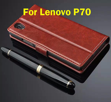 For Lenovo P70 P 70 Genuine Leather Wallet Style Cover Case For Lenovo p70-t With Card Slots Holder Back Cover Black Brown