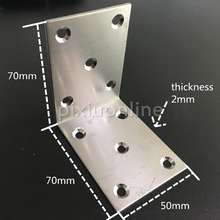 1pc DS306 Stainless Steel 10holes 70*70*50mm Corner Brackets Connector Chair and Desk DIY Repair Free Shipping Russia