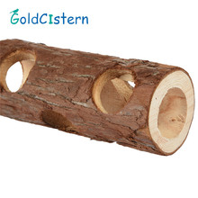 Cute Pet Hamsters Pipe Shape Wood Chew Toys for chinchillas guinea pigs and other small pets