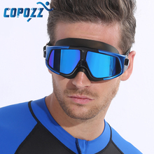 Buy COPOZZ Swimming Goggles Comfortable Silicone Large Frame Swim Glasses Anti-Fog UV Men Women Swim Mask Waterproof for $13.93 in AliExpress store