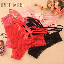 Buy Womens Sexy Lingerie Low Waist Lace Bowknot Erotic Silk Briefs Underwears Knickers 4 Colors Panties
