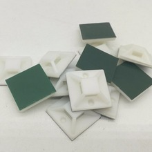 100cs 25mm White Z25 x 25 mm Square Self-Adhesive Cable Tie Mount Base(China)