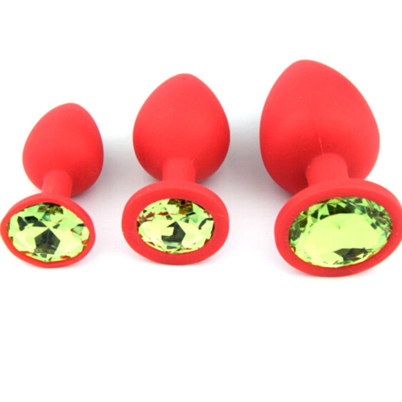 Silicone Medium Sexy Plug Butt Buttplug Or Butt Plugs Unisex Plated Jewelry Sex toy For Woman Men lovers' anal trainer QQGS07