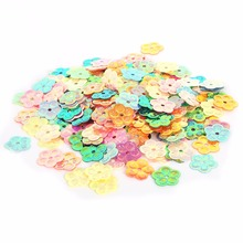 450-2000pcs 4X8mm/13mm Sequin Flower/Leaf for Clothing Accssory DIY Craft Scrapbooking Wedding Art Decoration Jewelry Making(China)