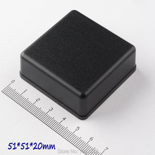 Free shipping 6 pcs/lot 51*51*20mm plastic enclosure ABS project boxes small PLC case for electronics desktop box switch box