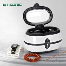 600ml 35W household ultrasonic cleaner 110/220v for Jewelry Watches Dental VGT-800 GT SONIC grey(China)