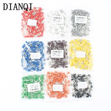 DIANQI E4009 Tube insulating terminals 4MM2 100PCS/Pack Cable Wire Connector Insulated Insulating Crimp Terminal Connector E-