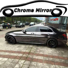 High Gloss Black Chrome Vinyl Wrap For Car Wrapping Sticker Film Air Bubble Free Size:1.52*20M/Roll