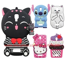 For Lenovo A2010 Case Lovely Stripe Cat Lord Nermal Poket Cat Stitch Hello Kitty 3D Cartoon Phone Bags Cases For Lenovo A 2010(China)