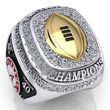 Size 10 To 13! 2Pcs/Set 2017 Hot SellingNCAA 2015 Alabama Crimson Tide Football National Championship Ring Replica Drop Shipping