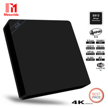 Mesuvida I68 S912 Smart TV Box Android 6.0 Amlogic S912 Octa Core 2G+16G 1000Mbps LAN Dual Band 2/5G WiFi BT 4.0 Set-top Box