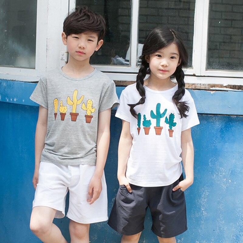 character 2 pcs kids girls boys clothing set summer 2017 new kids t shirts and shorts clothes set children sets cartoon clothing<br><br>Aliexpress