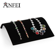 ANFEI Necklace Jewelry Display Shelf Bacelet Disprlay Shelf Jewelry Holder Rack Storage Jewelry Necklace Stand Black