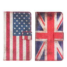 For Samsung Galaxy S2 Cover Case Retro UK USA Flag Wallet Flip Leather Book Purse Mobile Phone Accessories Cover For Galaxy S2